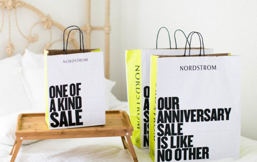 nordstrom anniversary sale stock photo